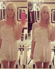 <3 maybe a little longer but other than that perfect :) #gold #glitter #dress