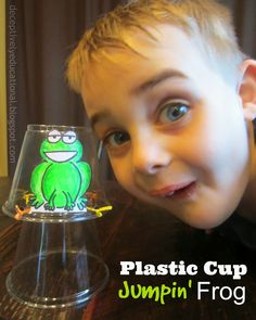 Relentlessly Fun, Deceptively Educational: Plastic Cup Jumpin' Frogs