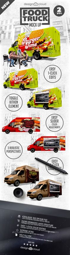 Food Truck Mock Up Kit | Buy and Download: http://graphicriver.net/item/food-truck-mock-up-kit-vol-2/9967534?ref=ksioks