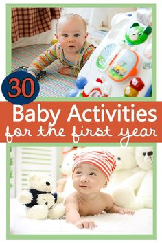 30 Baby Activities for the first year. These are fun and creative ways to interact with your baby whether they are moving yet or not. #MyLittleMover #ad