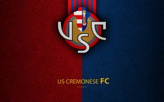 Download wallpapers US Cremonese FC, 4K, Italian football club, logo, Cremona, Italy, Serie B, leather texture, football, Italian Football Championships