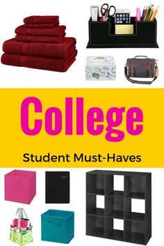 College Student Checklist: Must Haves And Essentials. These Are Some Of The  Basic Items Part 52