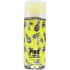 PINK Coconut Milk & Pineapple Body Mist ($18) ❤ liked on Polyvore featuring beauty products, fragrance and yellow