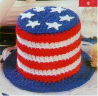 4th of July. Uncle Sam Hat Cake.