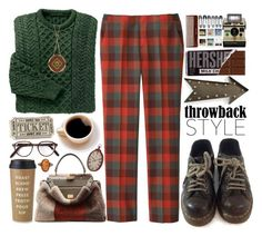 """""""Throwback style"""" by doga1 ❤ liked on Polyvore featuring Dr. Martens, Uniqlo, Cutler and Gross, Fendi, Kate Spade, kalalou, The Sak and throwbackstyle"""