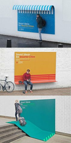 IBM turns its ads into furniture… Great advertising by IBM