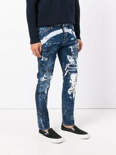 Embellished Farfetch Pocket JeansBlanco El azul Ermanno LpGSzMqUV