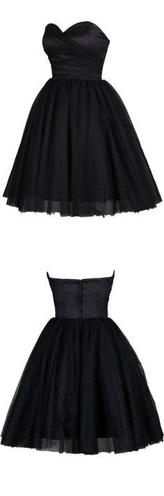 2016 homecoming dress,mini homecoming dress,black homecoming dress,simple…