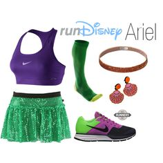 """""""Disney Ariel Running Outfit"""" by mamaspartydress on Polyvore"""