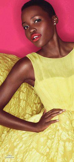 Lupita Nyong'o, Alexi Lubomorski (Photographer), Julia Von Boehm (Stylist), Elle Magazine France July 2014   Purely Inspiration