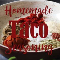 This easy homemade taco seasoning mix comes together in less than 5 minutes and makes the best addition to your favorite Mexican food. So much better than the packaged one! #easy #homemade #tacoseasoning #tacos #mexican | happykitchen.rocks