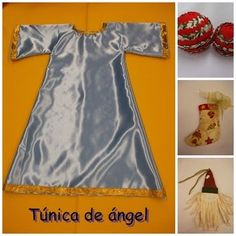 """Hola a tod@s! Hoy vamos a hacer la túnica para un angelito, este es el último tutorial de la serie del pesebre. Si queréis ver los otros """"di..."""