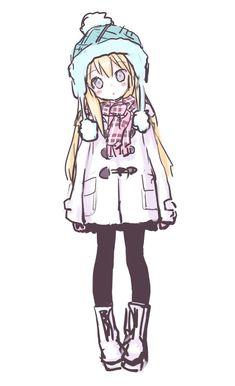 hi-ru-ko:    「白もこ黒タイツ娘」/「きぃら~☆:ついったん」のイラスト [pixiv]