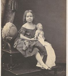 CWFP: Early Girl with Doll CDV for Sale: 1839-1865 Photograph - ia717