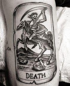 Death Tarot Card tattoo by @johnsonlallytattoo at @ceremonytattoosociety in Philadelphia, PA #johnsonlallytattoo #johnsonlally #ceremonytattoosociety #philadelphia #pennsylvania #tarottattoo #deathtattoo #tarotcards #tarotcardtattoo #tattoo #tattoos #tattoosnob