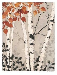 Tapestry Art Print by Melissa Pluch Birch Tapestry Giclee Print by Melissa Pluch at Birch Tree Art, Birch Trees Painting, Framed Art, Wall Art, Framed Canvas, Tree Illustration, Watercolor Trees, Watercolour, Art Decor
