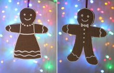 Gingerbread man and woman made easily from cardboard!