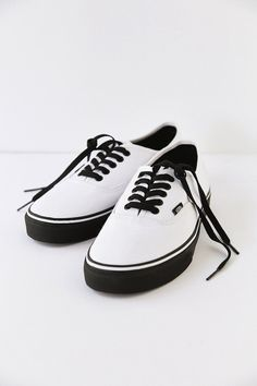 new concept bf3e2 b0f90 Shop Vans Authentic Black Sole Mens Sneaker at Urban Outfitters today.