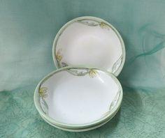 Vintage Bavaria China Hand Painted Dessert Bowls Art Deco Porcelain by KansasKardsStudio on Etsy