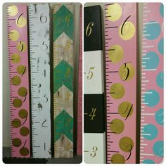 Hey, I found this really awesome Etsy listing at https://www.etsy.com/listing/486492305/gold-pink-and-black-growth-chart-ruler