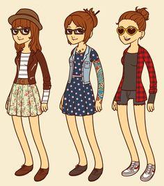 Criando seu avatar hipster com o Hipster Dress Up