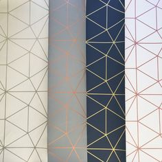 Science Wallpaper Bedroom - Metro Prism Geometric Triangle Wallpaper Grey and Rose Gold Girls Bedroom Wallpaper, Bathroom Wallpaper, Interior Wallpaper, Livingroom Wallpaper Ideas, Grey Kitchen Wallpaper, Interior Doors, Interior Paint, Copper Wallpaper, Rose Gold Wallpaper