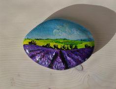 quadri - L'esercito dei sassi dipinti..lavender fields!!