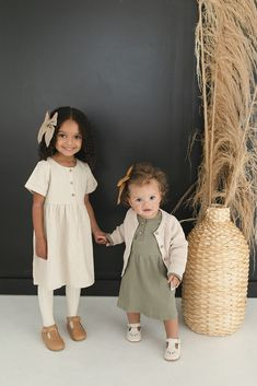 Cute Outfits For Kids, Toddler Outfits, Fall Baby Outfits, Little Girl Outfits, Long Sleeve Cotton Dress, Cotton Dresses, Sensible Shoes, Zara Kids, Kids Fashion