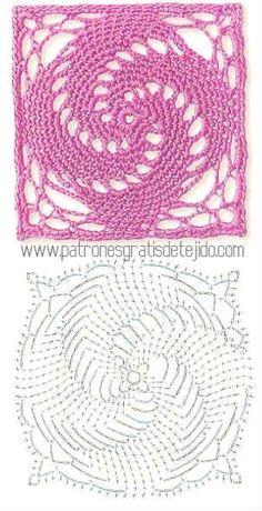 Transcendent Crochet a Solid Granny Square Ideas. Inconceivable Crochet a Solid Granny Square Ideas. Filet Crochet, Art Au Crochet, Crochet Motifs, Crochet Flower Patterns, Crochet Stitches Patterns, Thread Crochet, Crochet Crafts, Crochet Flowers, Crochet Doilies