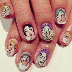 22 Ideas For Nails Design Disney Snow White Disney Nail Designs, Creative Nail Designs, Creative Nails, Nail Art Designs, Nails Design, Snow White Nails, Snow White Art, White Nail Art, Matte Pink Nails