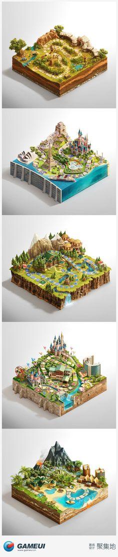 游戏地图场景 GAMEUI 游戏聚集地