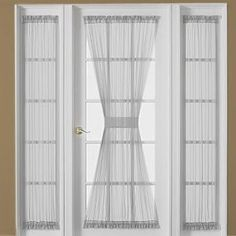 Front door small window curtain for privacy.