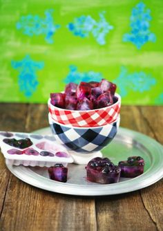 Add Blueberry Ice Cubes to your tea.