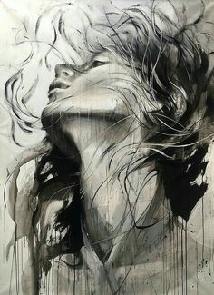 Dark Art Drawings, Pencil Art Drawings, Art Drawings Sketches, Hipster Drawings, Charcoal Drawings, Abstract Portrait, Portrait Art, Life Drawing, Drawing Faces