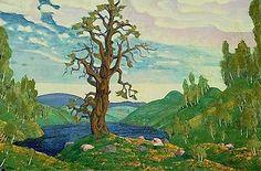 Part of Nicholas Roerich's designs for Diaghilev's 1913 production of Le Sacre du printemps