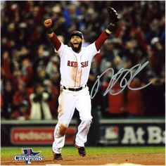 "Dustin Pedroia Boston Red Sox Fanatics Authentic Autographed 8"" x 10"" 2013 World Series Champions Arms Up Photograph"