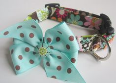 An all-time favorite. Modern Hippie Floral Dog Collar size Medium by jeanamichelle, $13.50