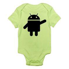 b8e665fc4 AmazonSmile: CafePress Infant Bodysuit - Android Infant Bodysuit: Clothing  Baby Clothes Shops, Geek