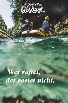 #Rafting auf der #Salza. Für alle Wasserratten und Adrenalin-Liebhaber ein MUSS.  #österreich #steiermark #gesäuse #gibtkraft Foto: Stefan Leitner Rafting, Outdoors, Movies, Movie Posters, Canoe, Films, Film Poster, Cinema, Movie