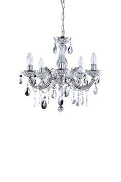 Black Crystal Chandelier : Marie Therese 5 Lamp Black Crystal ...