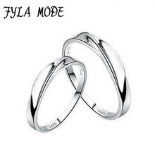 US $7.14     Buy Jewelry At Wholesale Prices!     FREE Shipping Worldwide     Get it here ---> http://jewelry-steals.com/products/fyla-mode-new-new-women-and-men-wave-twist-couple-ring-intertwined-love-925-sterling-silver-lover-ring-romantic-style-yh015/    #fashion