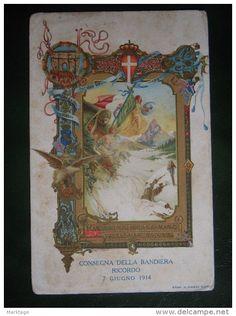 GUARDIA DI FINANZA,1914-REGIA -CONSEGNA DELLA BANDIERA SENZA FRANCOBOLLO,TIMBRO 1915 - Delcampe.it