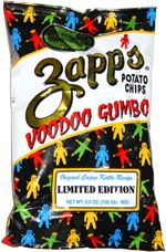 Zapp's Potato Chips Voodoo Gumbo, Zapp's used to be local but now available at World Market