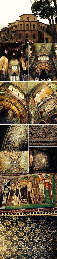 1,500 year old Byzantine mosaics in Ravenna. #architecture #detail #sacred