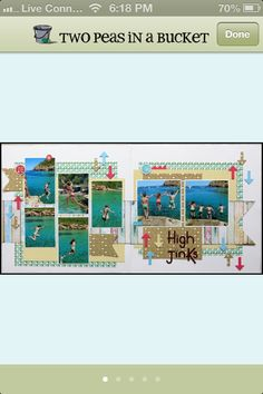High Jinks...Two Page Layout...7 photos
