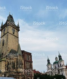 Tower of the astronomical clock of Prague foto stock royalty-free