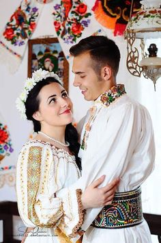 Viorel el mago - Google+ Romanian Wedding, Beautiful People, Beautiful Pictures, Orthodox Wedding, Folk Clothing, Beautiful Costumes, Folk Costume, People Of The World, Japanese Culture