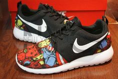 Nike Roshe Run Black Marvel Superheroes Edition Custom Men & Women from NYCustoms on Etsy. Saved to Things I want as gifts. Nike Shoes Cheap, Nike Free Shoes, Nike Shoes Outlet, Running Shoes Nike, Cheap Nike, Nike Free Runners, Nike Store, Zapatillas Nike Roshe, Nike Roshe Run Black