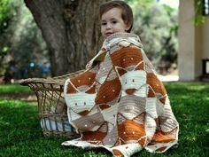 Fox Baby Blanket Pattern