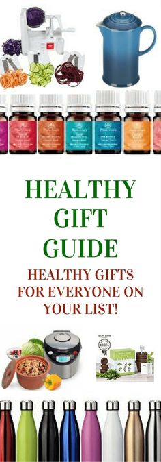 Healthy gift guide! Perfect presents to help everyone on your holiday list live healthier! Click to read more or pin to save for later.